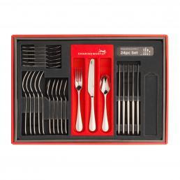 Baguette Mirror 24 Piece Cutlery Set