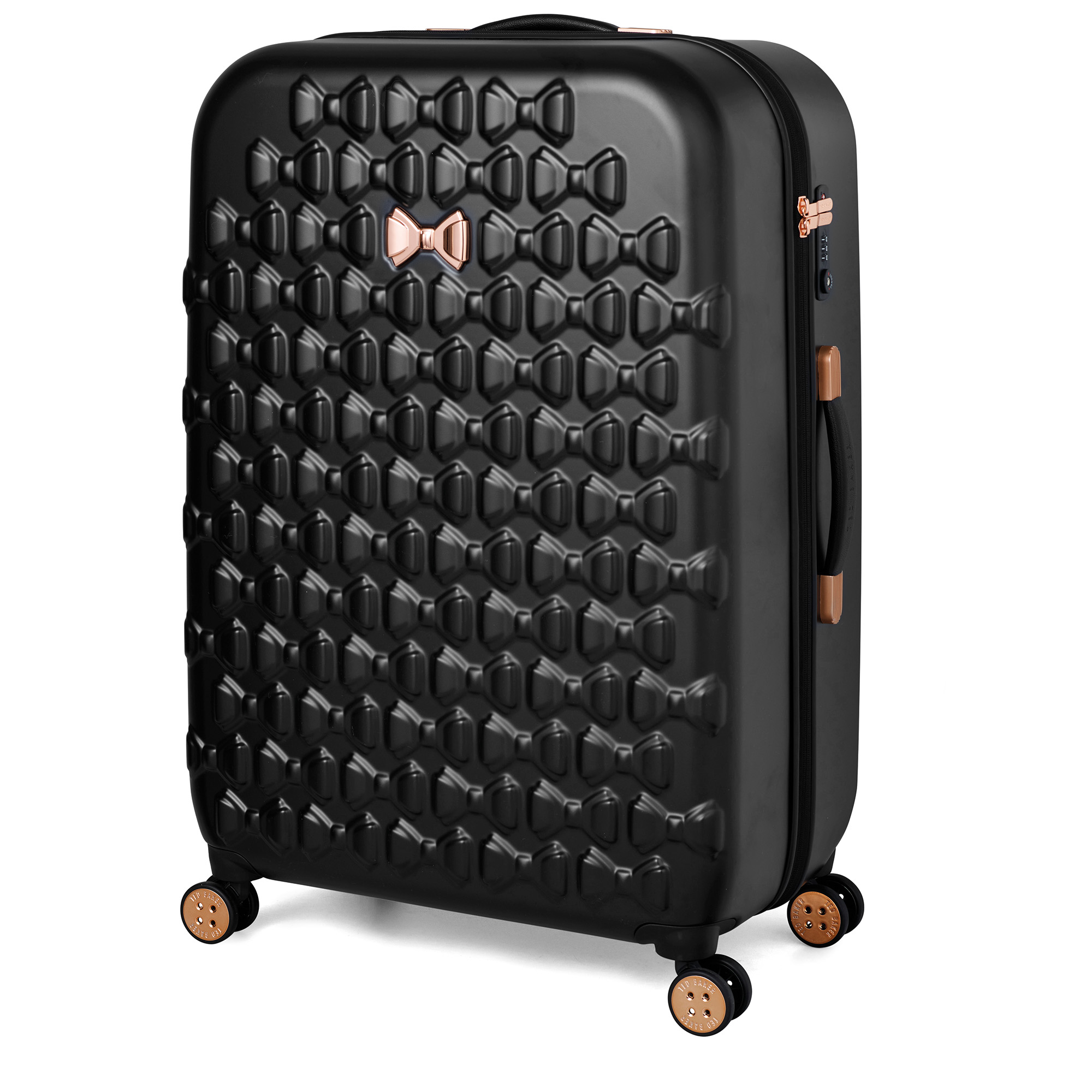 Beau Large 4 Wheel Trolley Suitcase Black