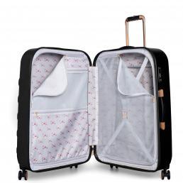 Beau Large 4 Wheel Trolley Suitcase Black