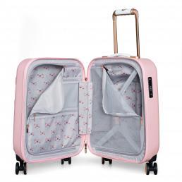 Beau Small 4 Wheel Trolley Cabin Case Pink