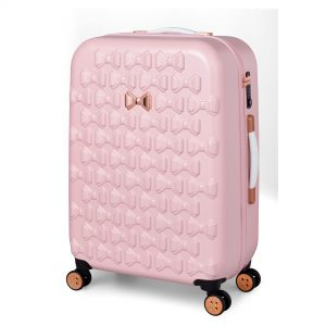 Beau Medium 4 Wheel Trolley Suitcase Pink