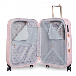 Beau Medium 4 Wheel Trolley Suitcase Pink