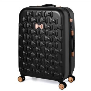 Beau Medium 4 Wheel Trolley Suitcase Black