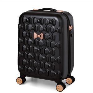 Beau Small 4 Wheel Trolley Cabin Case Black