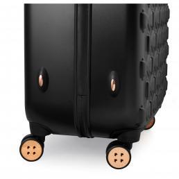 Beau Small 4 Wheel Trolley Cabin Case Black