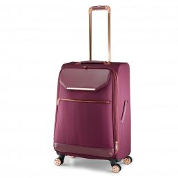 Womens Albany Softside 4 Wheel Medium Suitcase Burgundy