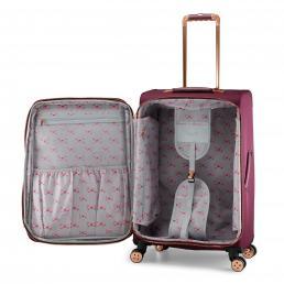 Womens Albany Softside 4 Wheel Medium Suitcase Burgundy