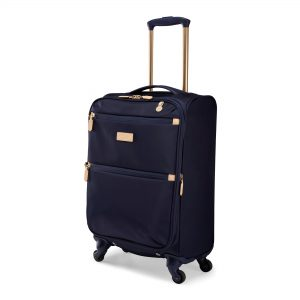 Radley Luggage Womens Travel Essentials Softside 4 Wheel Small Suitcase Ink