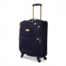 Radley Luggage Womens Travel Essentials Softside 4 Wheel Small Suitcase Ink