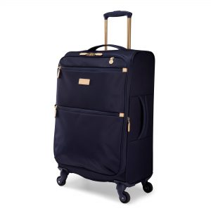 Radley Luggage Womens Travel Essentials Softside 4 Wheel Medium Suitcase Ink