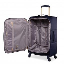 Radley Luggage Womens Travel Essentials Softside 4 Wheel Medium Suitcase Ink