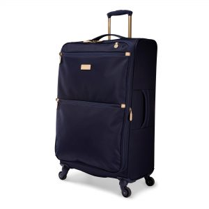 Radley Luggage Womens Travel Essentials Softside 4 Wheel Large Suitcase Ink