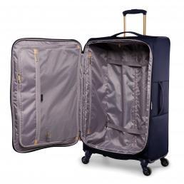 Radley Luggage Womens Travel Essentials Softside 4 Wheel Large Suitcase Ink