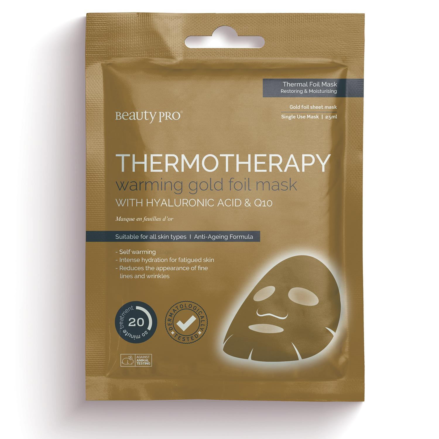 THERMOTHEAPY Warming Gold Foil Mask with Hyaluronic Acid & Q10 25ml