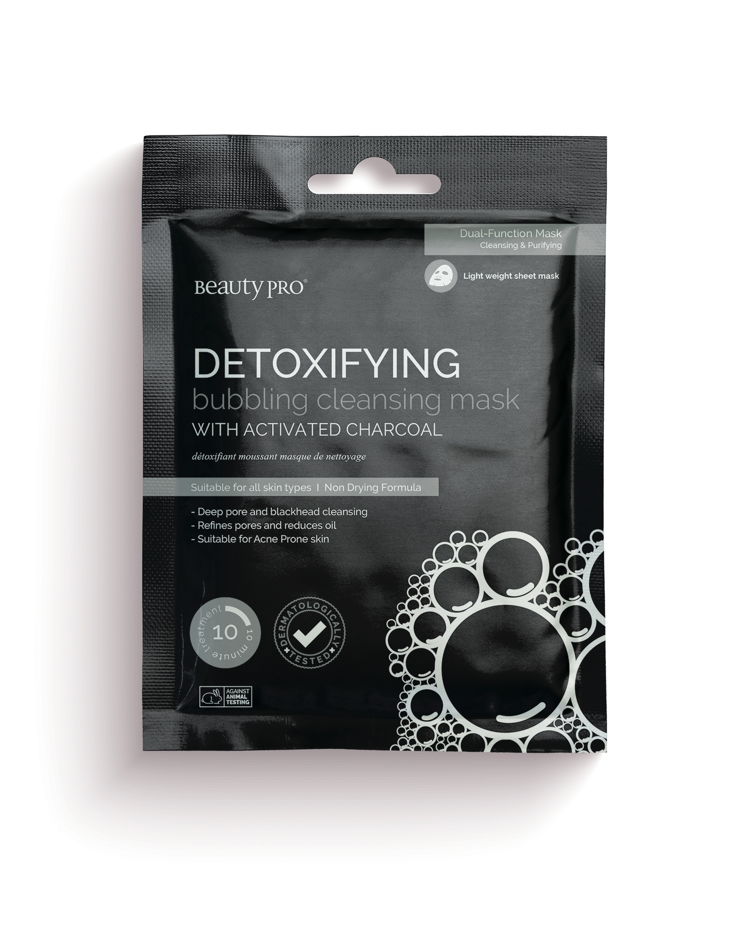 DETOXIFYING Bubbling Cleansing Mask with Activated Charcoal 18ml