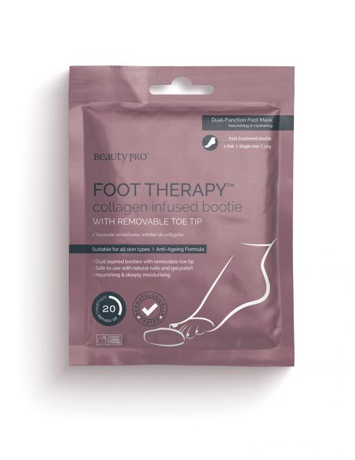 FOOT THERAPY Collagen Infused Bootie with Removable Toe Tip 17g
