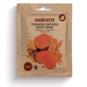 natura TUMERIC Infused Sheet Mask 22ml / 0.75 fl oz