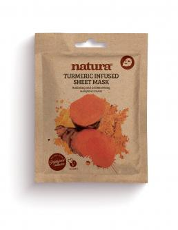 natura TUMERIC Infused Sheet Mask 22ml / 0.75 fl oz