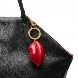 Classic Red Small Perspex Mini Lip Keyring
