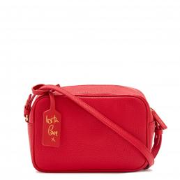 CLASSIC RED GRAINY LEATHER PATSY CROSSBODY BAG
