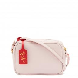 BLUSH GRAINY LEATHER PATSY CROSSBODY BAG