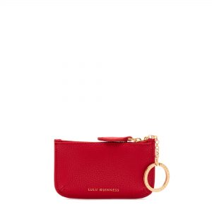 CLASSIC RED POP OUT LIP FRANKIE KEY POUCH