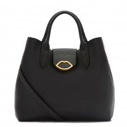 BLACK LIP PUSH LOCK LUELLA TOTE BAG