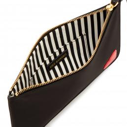 BLACK/CLASSIC RED HEART GRACE POUCH