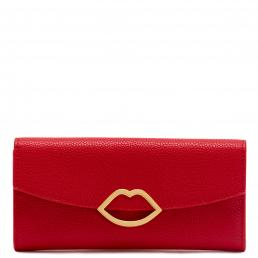 CLASSIC RED CUT OUT LIP TRISHA WALLET