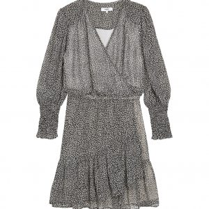 CARMEN LEOPARD PRINT WRAP DRESS