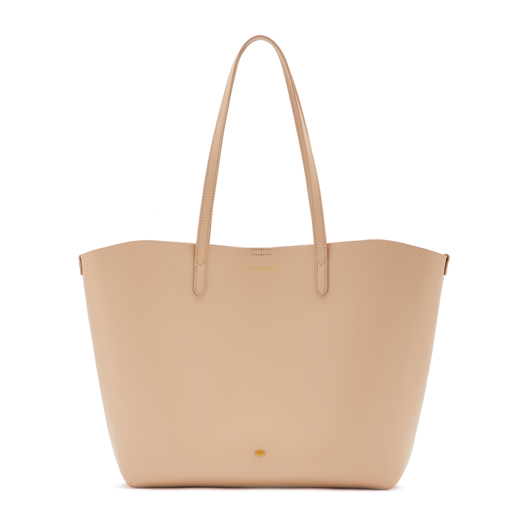 Almond Leather Crossgrain Ivy Tote Bag