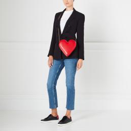 Classic Red Heart Freya Crossbody Bag