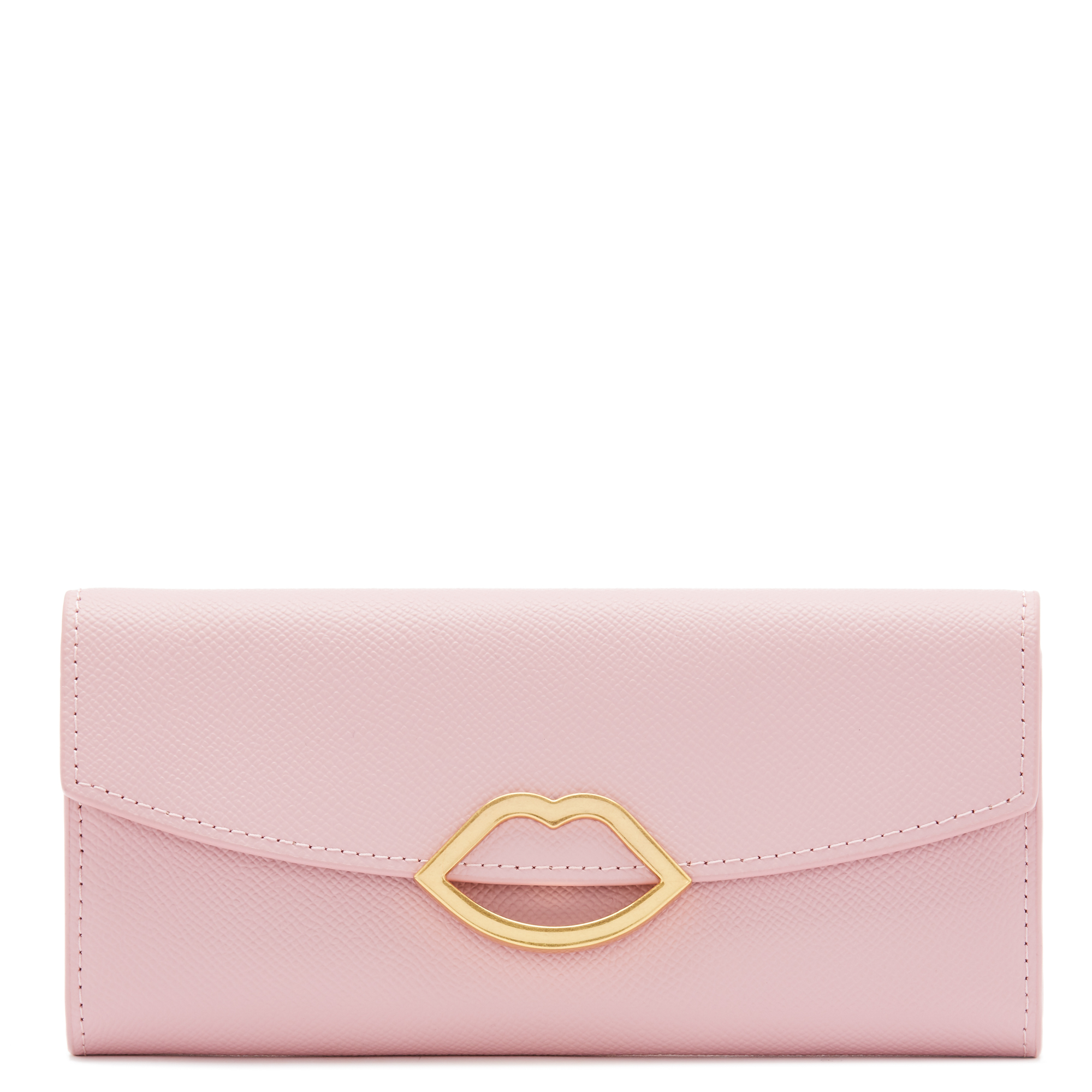 Blossom Leather Cut Out Lip Trisha Wallet