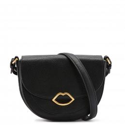 Black Med Cut Out Lip Esme Saddle Bag
