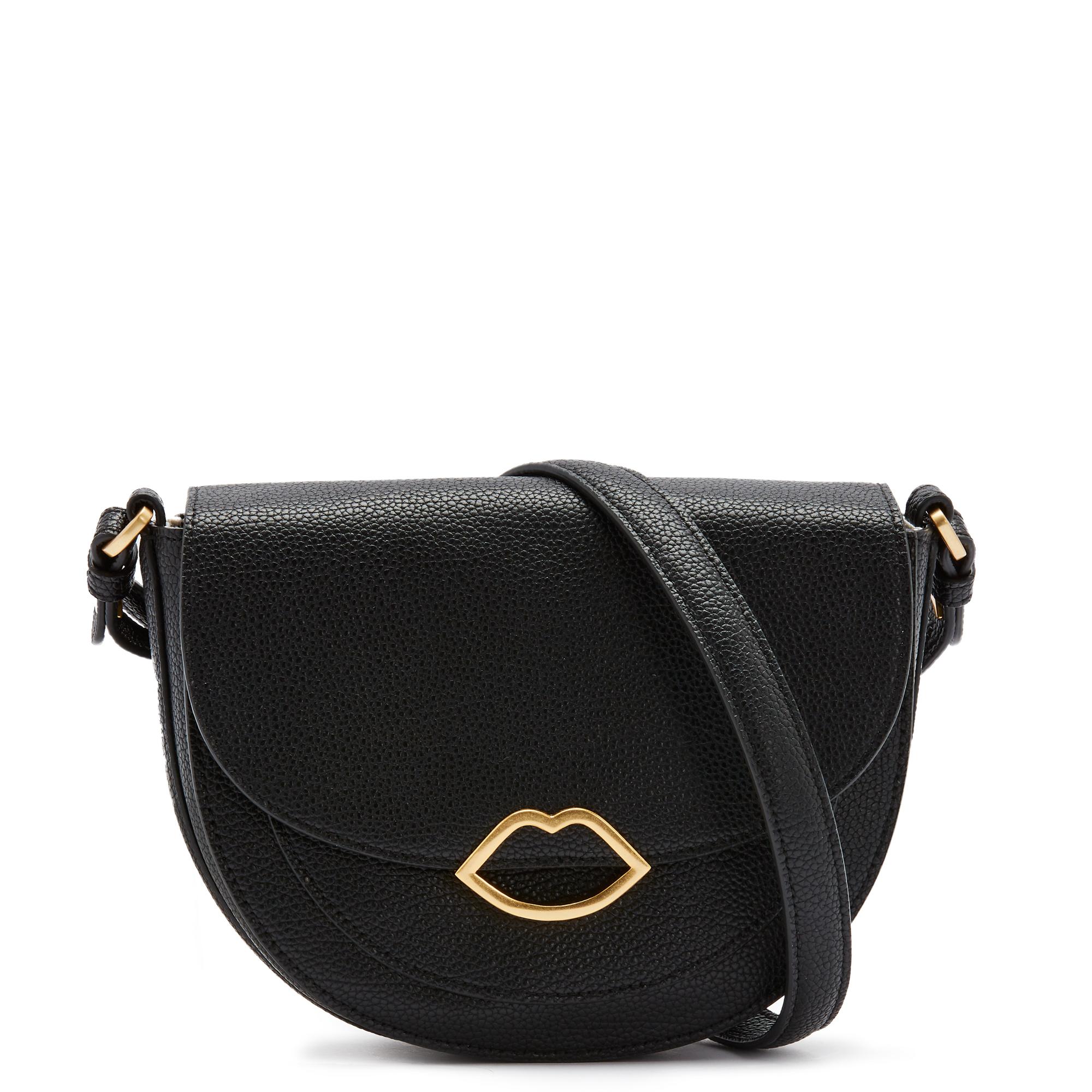 Black Med Cut Out Lip Esme Saddle Bag