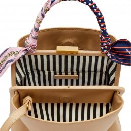 Almond Medium Ruby Bucket Bag With Scarf