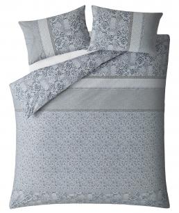FLORAL MOSAIC PEARL BLUE KING BEDSET