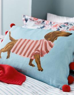FALMOUTH DOGS CUSHION BLUE