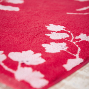 PENZANCE FLORAL BATH MAT RED