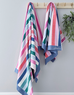 LOST GARDEN STRIPE BATH SHEET MULTI