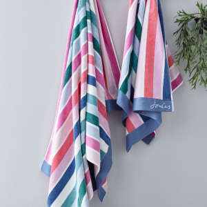 LOST GARDEN STRIPE BEACH TOWEL MULTI
