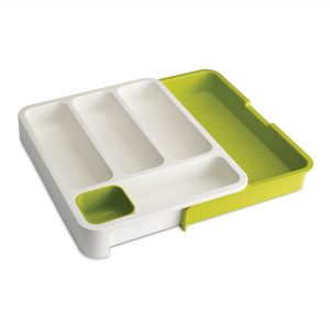 DrawerStore Cutlery Drawer Wht/Grn