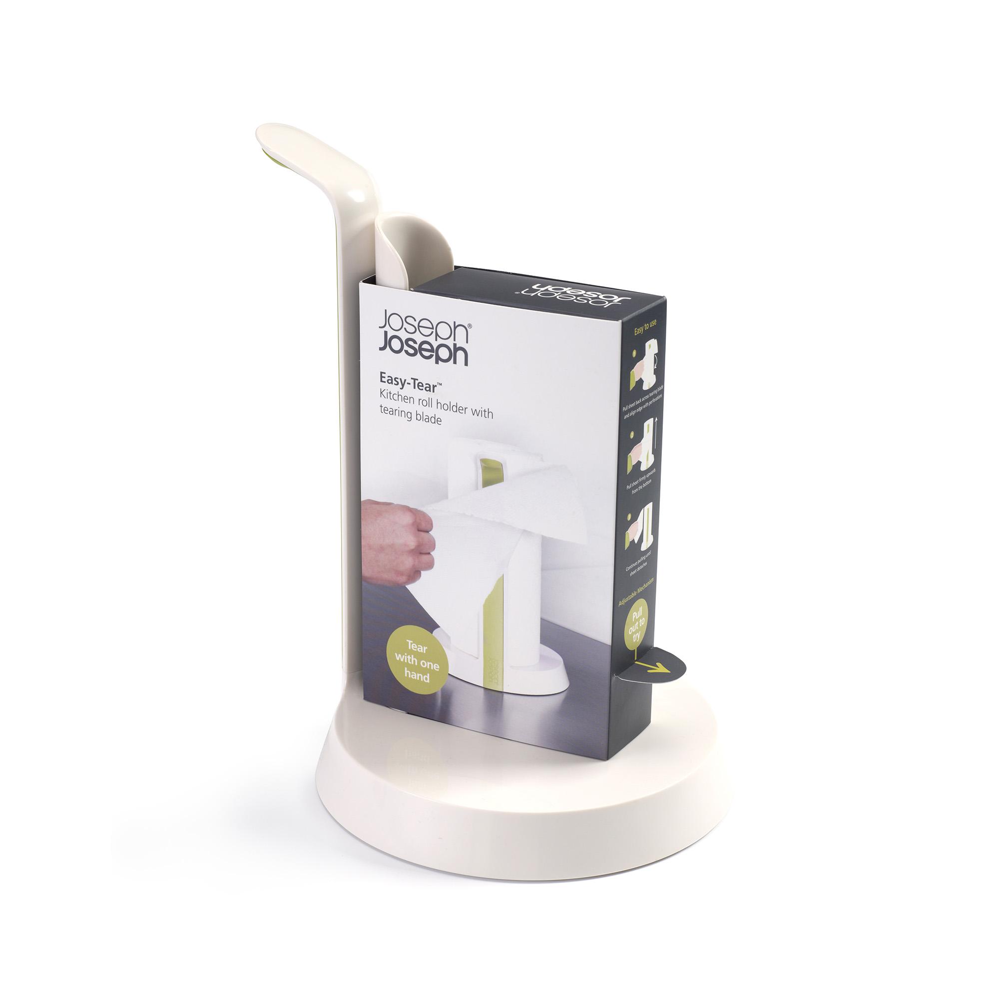 Easy-Tear Kitchen Roll holder Wht/Grn