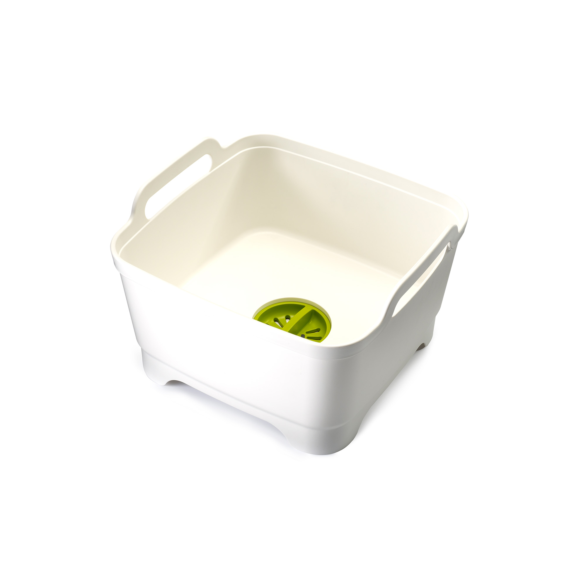 Wash & Drain Washing Up Bowl Wht/Grn