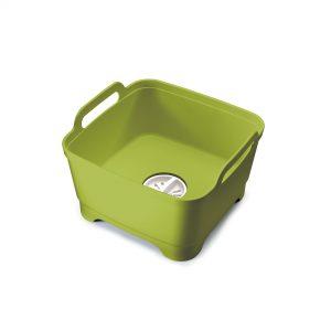 Wash & Drain Washing Up Bowl Green/Green