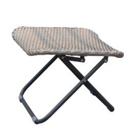 Faux Rattan Folding Footstool