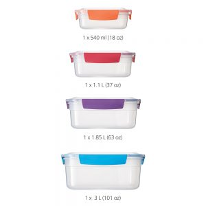 Nest Lock 4-Piece Container Set - Multicolour