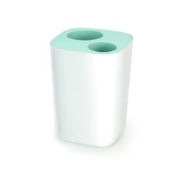 Split Bathroom Waste Separation Bin Blue