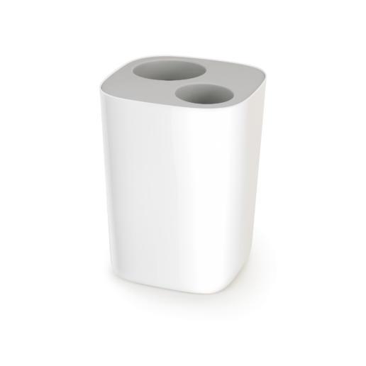 Split Bathroom Waste Separation Bin Grey