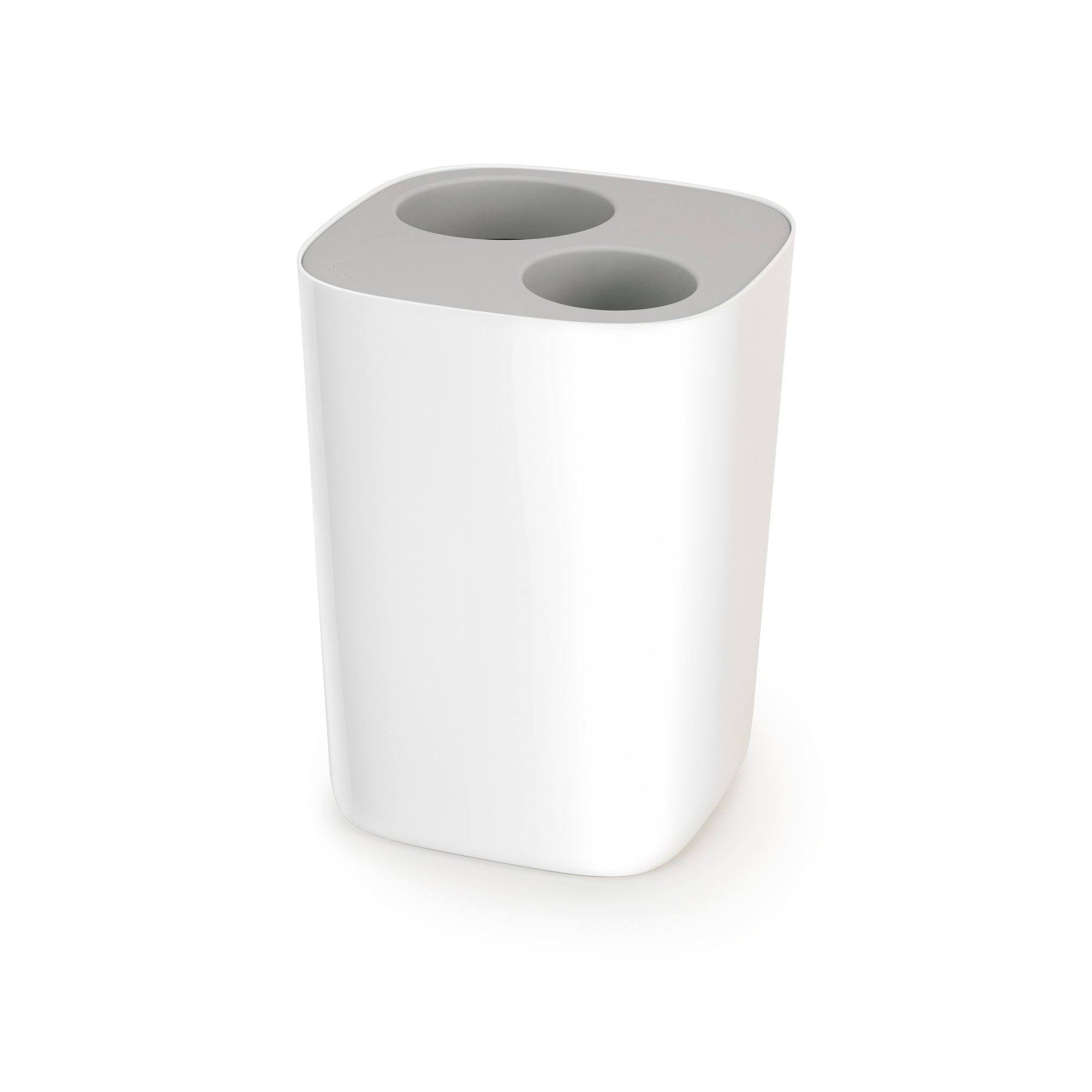 Split Bathroom Waste Separation Bin Grey